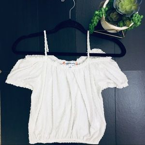 FASHION MUSE White Off The Shoulder Top